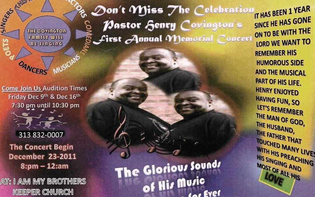 Pastor Henry Covington Memorial Concert