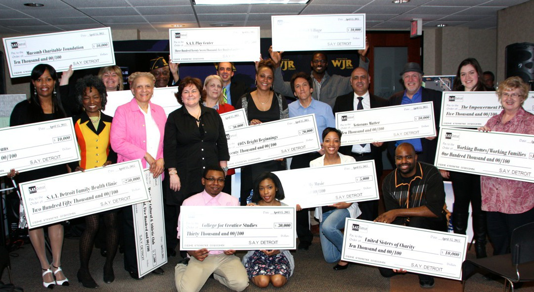 S.A.Y. Detroit Distributes Radiothon Funds