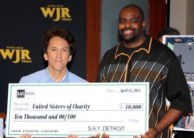 S.A.Y. Detroit Distributes Radiothon Funds 2