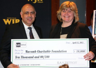 S.A.Y. Detroit Distributes Radiothon Funds 11