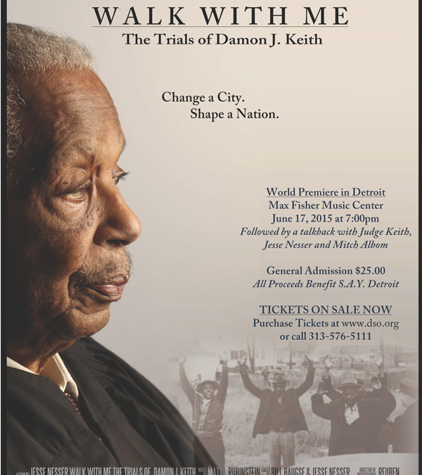 'Walk With Me' Docu to Support SAY Detroit