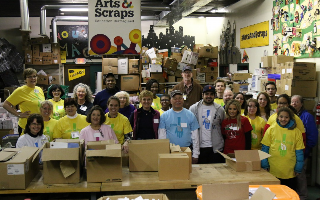 Packaging Scraps and Smiles in Detroit