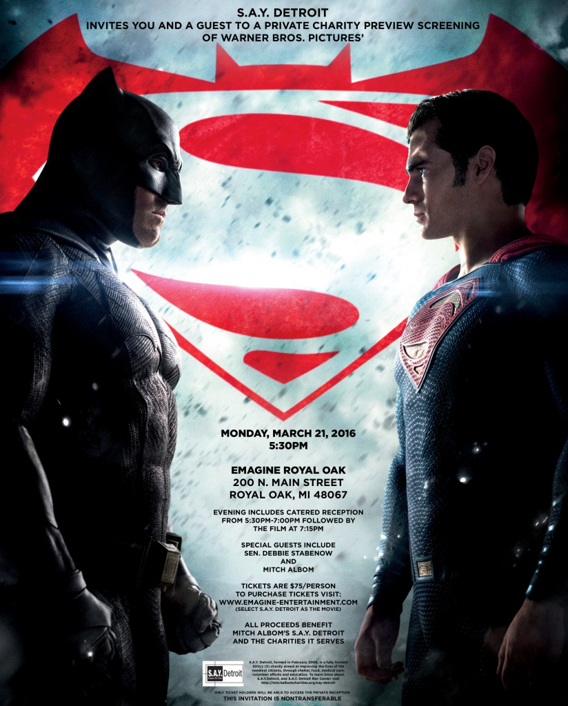 Batman v Superman SAY Detroit