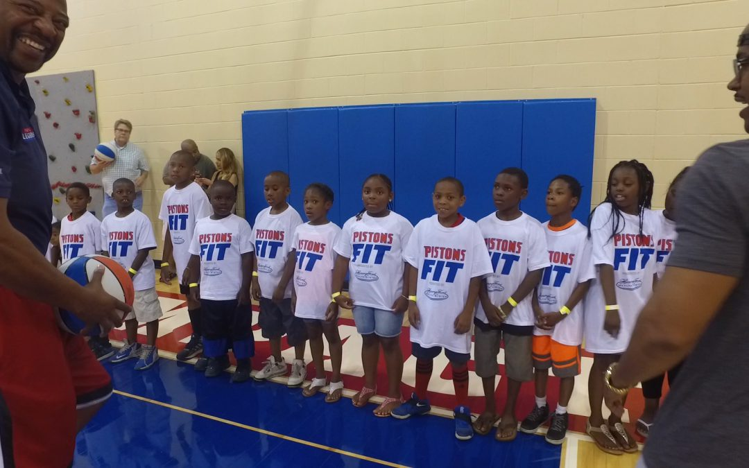 Saturday's Pistons Clinic a Huge Hit!