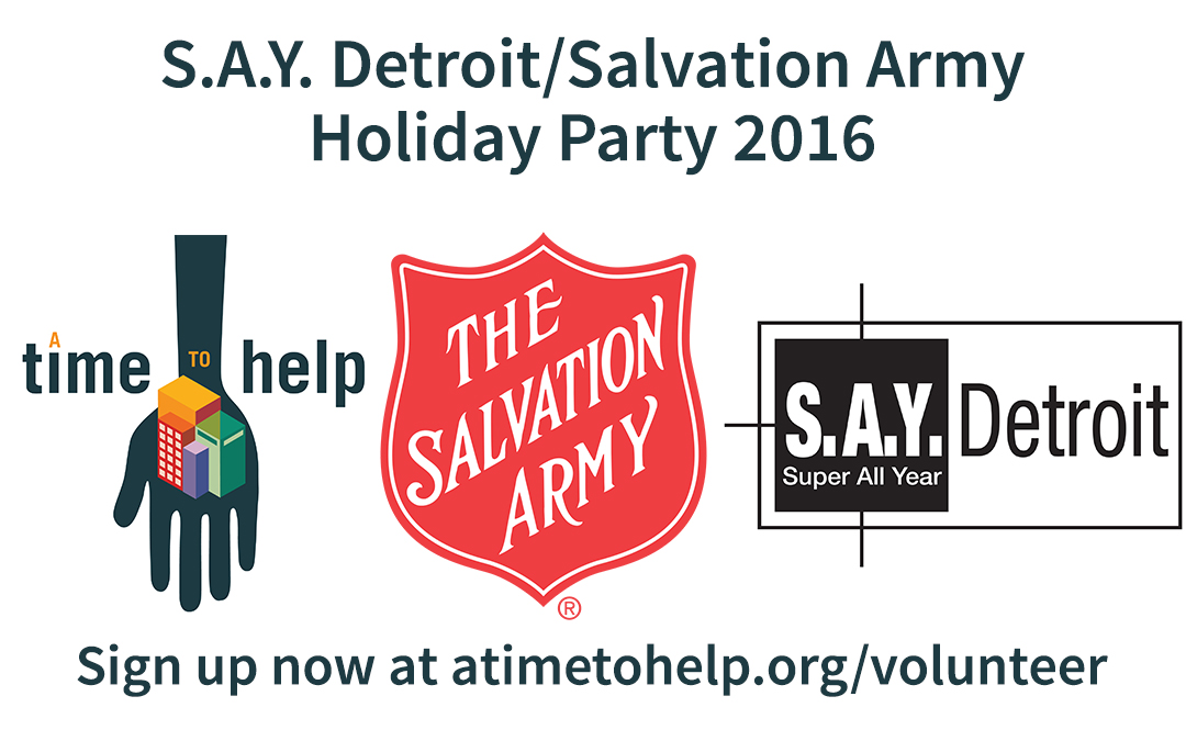 S.A.Y. Detroit/Salvation Army Holiday Party 2016