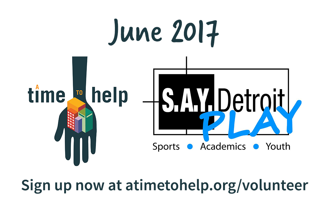 A Time to Help June 2017: S.A.Y. Play