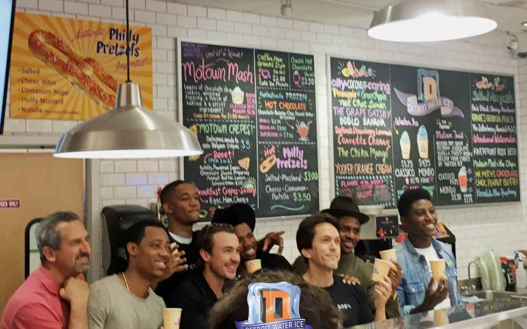DETROIT film stars scoop FREE water ice