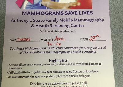 Mobile Mammography Center Visits S.A.Y. Detroit Family Health Clinic 2