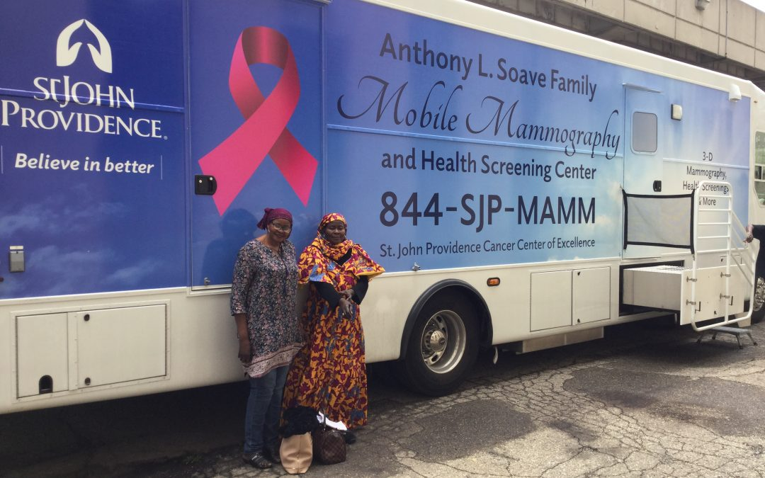Mobile Mammography Center Visits S.A.Y. Detroit Family Health Clinic