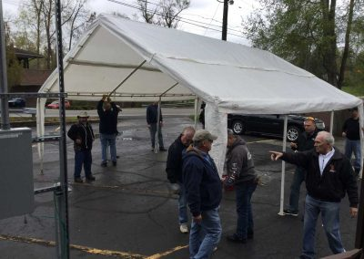 "Michigan Masons ""raise the tent'' at Franklin Cider Mill for Summer 2019 11"