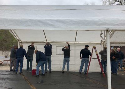 "Michigan Masons ""raise the tent'' at Franklin Cider Mill for Summer 2019 10"