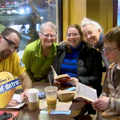 Friends Read Together in the Heart of Detroit