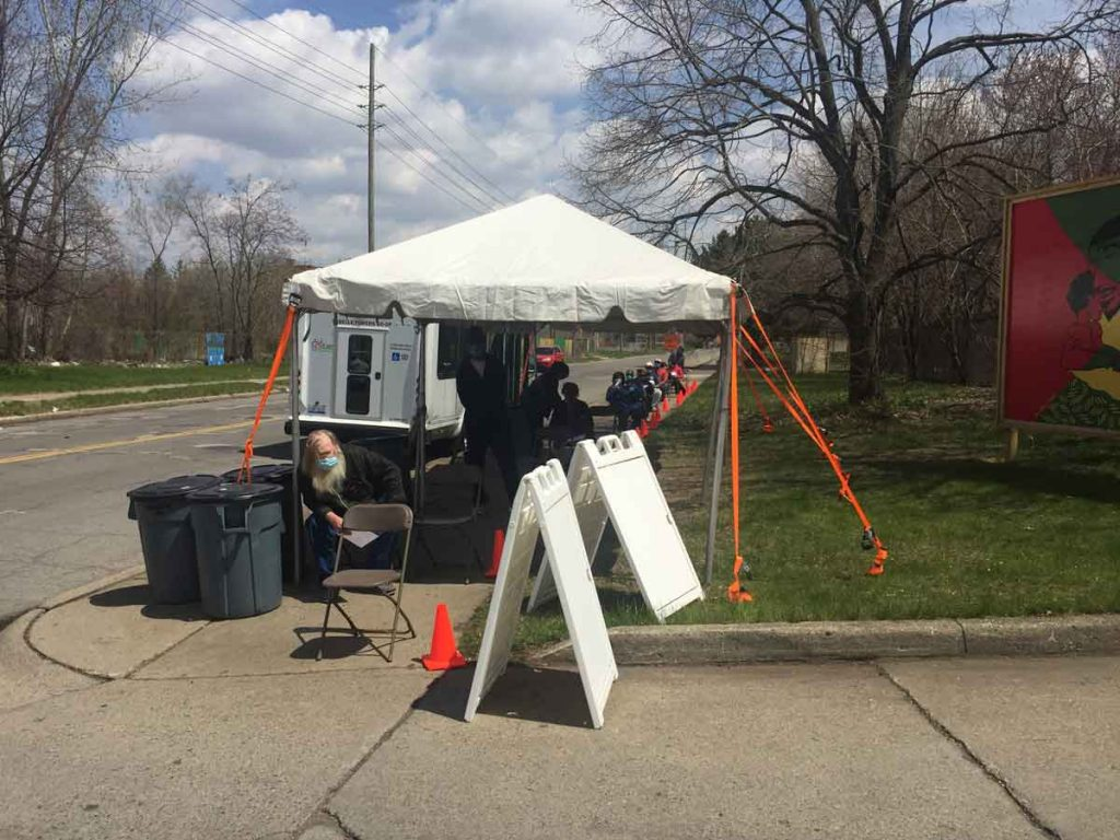 COVID-19 Mobile Testing Center Opens at SAY Clinic in Highland Park // UPDATE 7