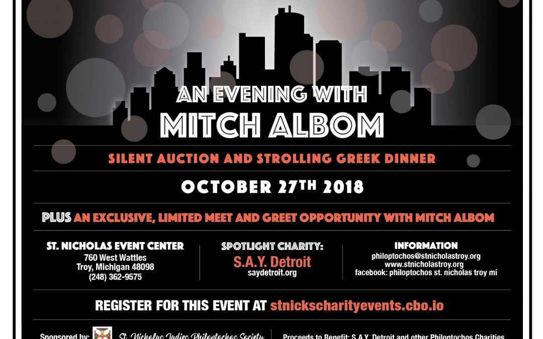 An Evening with Mitch Albom Fundraiser