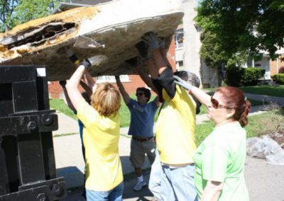 A Time to Help Joins Habitat for Humanity to Clean Up Morningside Commons 8