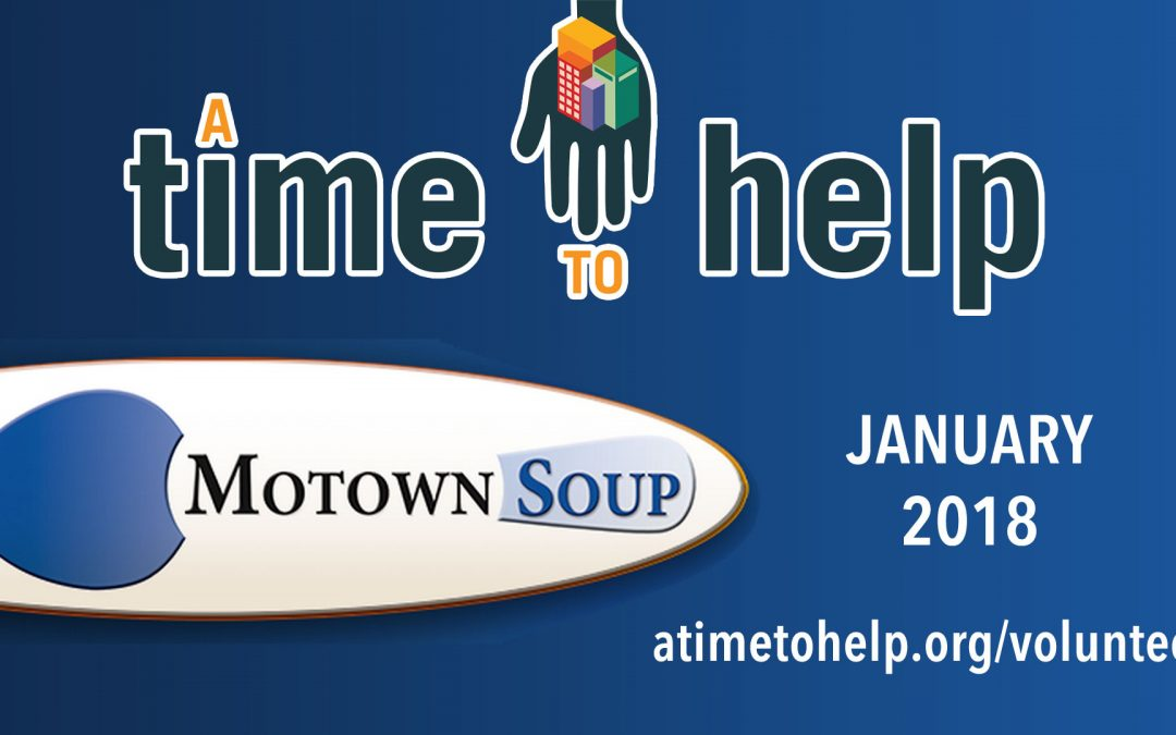 Soup's On with A Time to Help in January 2018