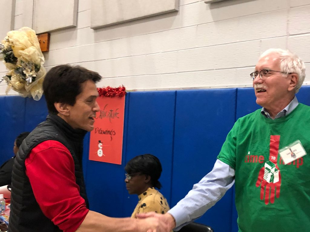 Volunteers ring in the holidays at Salvation Army Harbor Light 28