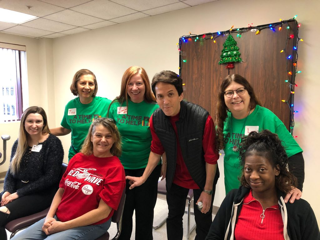 Volunteers ring in the holidays at Salvation Army Harbor Light 25
