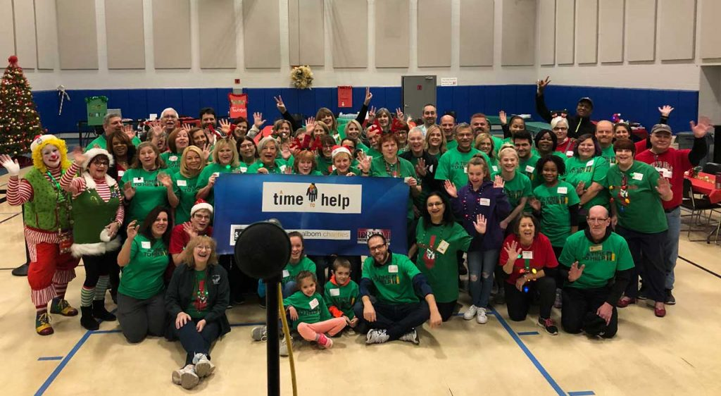 Volunteers ring in the holidays at Salvation Army Harbor Light 35