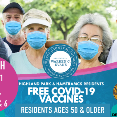 COVID-19 Vaccines for 50+ in Highland Park and Hamtramck